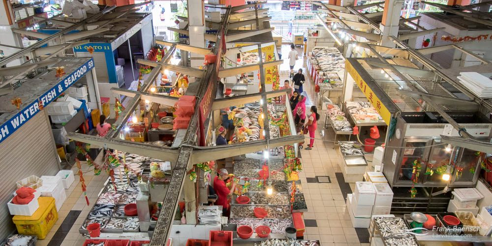 Bird's eye view of Singapore's Tekka Market.